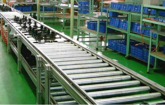 铝型材无动力辊筒输送机结构图