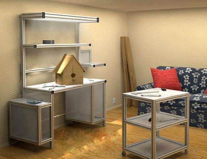 工业铝型材diy家具